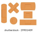 first aid medical plasters in... | Shutterstock . vector #29901409