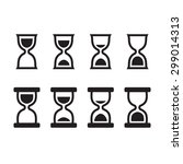 set of hourglass icons in two...