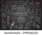 set of laboratory equipment....   Shutterstock .eps vector #299026223