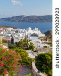 view of plaka village  milos... | Shutterstock . vector #299028923
