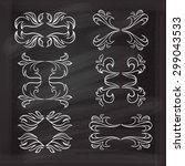 set of elegant floral elements... | Shutterstock .eps vector #299043533
