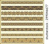 vintage border set for design  | Shutterstock .eps vector #299046677