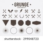 set of vector grunge design... | Shutterstock .eps vector #299048723
