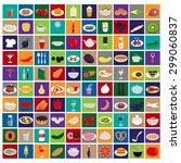 3d Flat Food Icons Set  Vector...