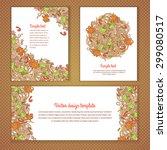 three invitation card design... | Shutterstock .eps vector #299080517