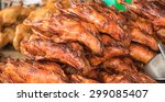 Roasted Duck For Food Background
