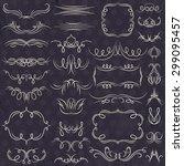 calligraphy decorative borders  ... | Shutterstock .eps vector #299095457