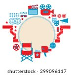 composition with blank space... | Shutterstock .eps vector #299096117