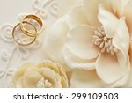 wedding decoration with flowers ... | Shutterstock . vector #299109503