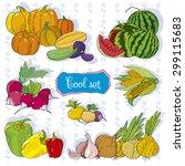 tasty grocery set.illustration... | Shutterstock .eps vector #299115683