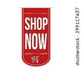 shop now banner design over a... | Shutterstock .eps vector #299117657