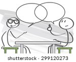 two people discussing the pros... | Shutterstock .eps vector #299120273