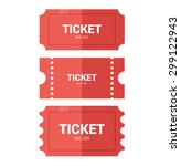 tickets icon. flat design.... | Shutterstock .eps vector #299122943