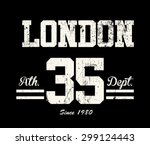 vintage vector print and... | Shutterstock .eps vector #299124443