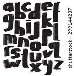font.uppercase latin alphabet.  | Shutterstock .eps vector #299144237