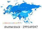 eurasia   map and navigation... | Shutterstock .eps vector #299169347