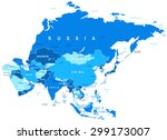 asia map   highly detailed... | Shutterstock .eps vector #299173007