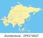 asia   map   illustration | Shutterstock .eps vector #299173037
