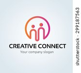 creative connect  people logo... | Shutterstock .eps vector #299187563
