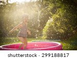 kid playing in water during... | Shutterstock . vector #299188817