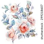 Watercolor English Roses