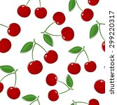 seamless pattern of cherry ... | Shutterstock .eps vector #299220317