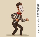 illustration of a mime  vector | Shutterstock .eps vector #299228687