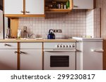 interior of an old simple... | Shutterstock . vector #299230817