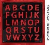 wooden alphabet  vector set...   Shutterstock .eps vector #299254283