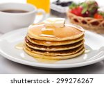 breakfast  pancake  food. | Shutterstock . vector #299276267