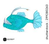 deep fish  stock vector. | Shutterstock .eps vector #299280263