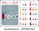 types of wine with food. wine... | Shutterstock .eps vector #299287367