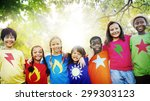children friendship...   Shutterstock . vector #299303123