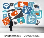 media social media social... | Shutterstock . vector #299304233
