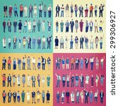jobs people diversity work... | Shutterstock . vector #299306927