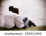 couple hugging happiness fun.... | Shutterstock . vector #299311943