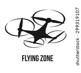 flying quadcopter drone logo ... | Shutterstock .eps vector #299319107