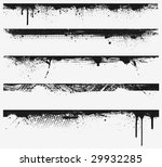 five grunge edges. every edge... | Shutterstock .eps vector #29932285