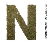 letter n made of dead grass ...