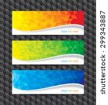 a set of modern geometric... | Shutterstock .eps vector #299343887