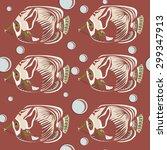 seamless pattern. tropical fish....   Shutterstock . vector #299347913