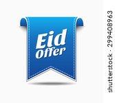 eid offer blue vector icon... | Shutterstock .eps vector #299408963