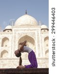 young female practising... | Shutterstock . vector #299446403