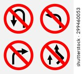 set of road signs prohibiting... | Shutterstock .eps vector #299460053