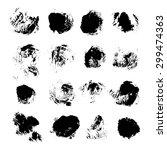 abstract vector spots of black... | Shutterstock .eps vector #299474363