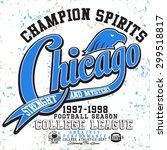 college tee graphics vintage... | Shutterstock .eps vector #299518817
