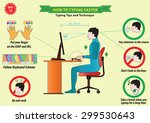 typing tips | Shutterstock .eps vector #299530643