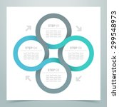 abstract 4 circle ribbon... | Shutterstock .eps vector #299548973