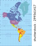 high detailed map of north and... | Shutterstock .eps vector #299561417