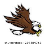 eagle mascot style   Shutterstock .eps vector #299584763
